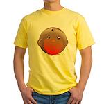 Cute Robin Bird Yellow T-Shirt