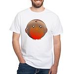 Cute Robin Bird White T-Shirt