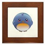 Cute Bluebird Framed Tile