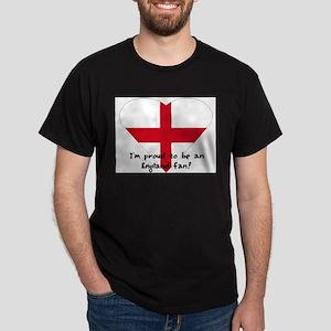 Saint George Cross fan Black T-Shirt
