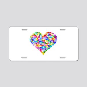 Rainbow Heart of Hearts Aluminum License Plate