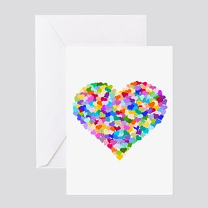 Rainbow Heart of Hearts Greeting Card