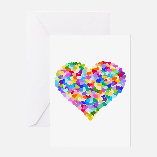 Rainbow Heart of Hearts Greeting Card