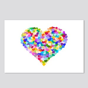 Rainbow Heart of Hearts Postcards (Package of 8)