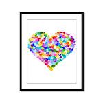 Rainbow Heart of Hearts Framed Panel Print