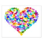 Rainbow Heart of Hearts Small Poster