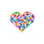 Rainbow Heart of Hearts 38.5 x 24.5 Wall Peel