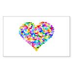 Rainbow Heart of Hearts Sticker (Rectangle 50 pk)
