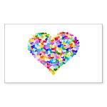 Rainbow Heart of Hearts Sticker (Rectangle 10 pk)