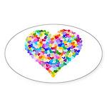 Rainbow Heart of Hearts Sticker (Oval 10 pk)