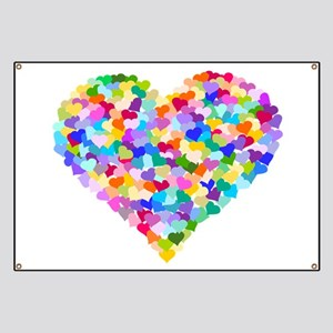 Rainbow Heart of Hearts Banner