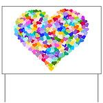 Rainbow Heart of Hearts Yard Sign