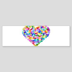 Rainbow Heart of Hearts Sticker (Bumper)