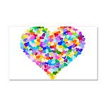 Rainbow Heart of Hearts Car Magnet 20 x 12