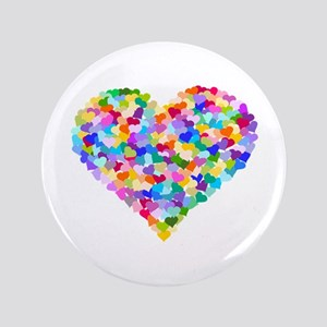 "Rainbow Heart of Hearts 3.5"" Button"