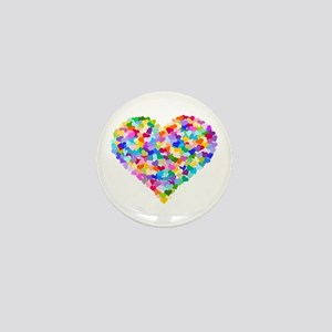 Rainbow Heart of Hearts Mini Button