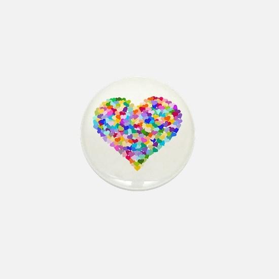 Rainbow Heart of Hearts Mini Button