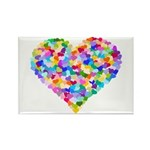 Rainbow Heart of Hearts Rectangle Magnet (100 pack