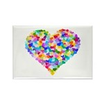 Rainbow Heart of Hearts Rectangle Magnet (10 pack)