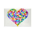 Rainbow Heart of Hearts Rectangle Magnet