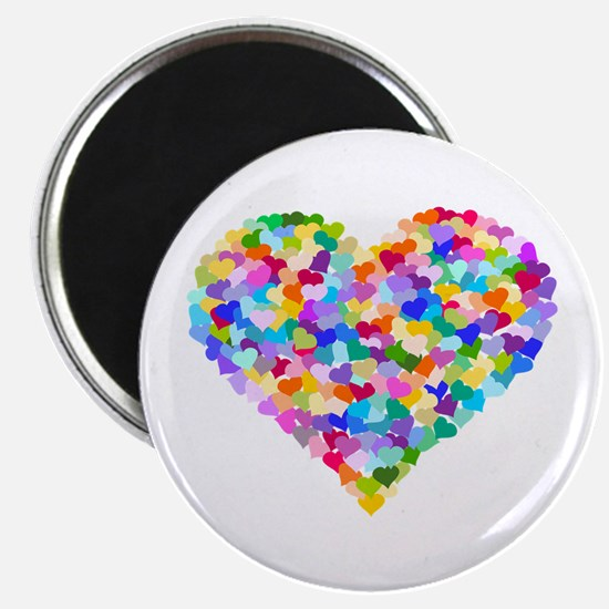 """Rainbow Heart of Hearts 2.25"""" Magnet (100 pack)"""
