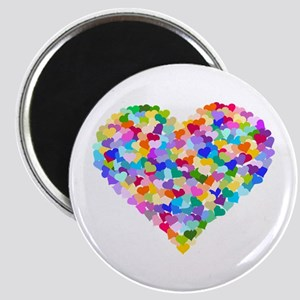 Rainbow Heart of Hearts Magnet