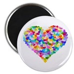 Rainbow Heart of Hearts Magnet