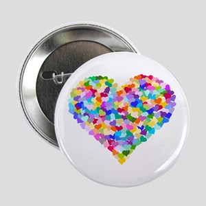 "Rainbow Heart of Hearts 2.25"" Button"