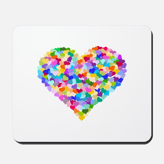 Rainbow Heart of Hearts Mousepad