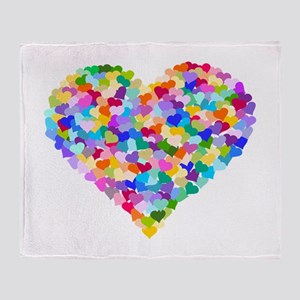 Rainbow Heart of Hearts Throw Blanket