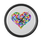 Rainbow Heart of Hearts Large Wall Clock