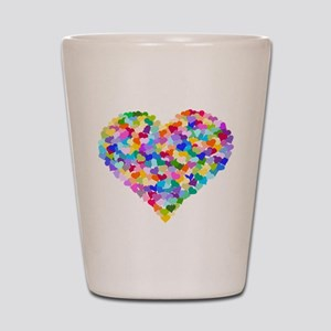 Rainbow Heart of Hearts Shot Glass