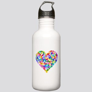 Rainbow Heart of Hearts Stainless Water Bottle 1.0
