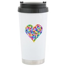 Rainbow Heart of Hearts Stainless Steel Travel Mug