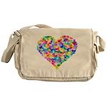 Rainbow Heart of Hearts Messenger Bag