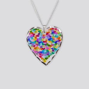 Rainbow Heart of Hearts Necklace Heart Charm
