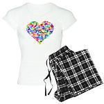 Rainbow Heart of Hearts Women's Light Pajamas