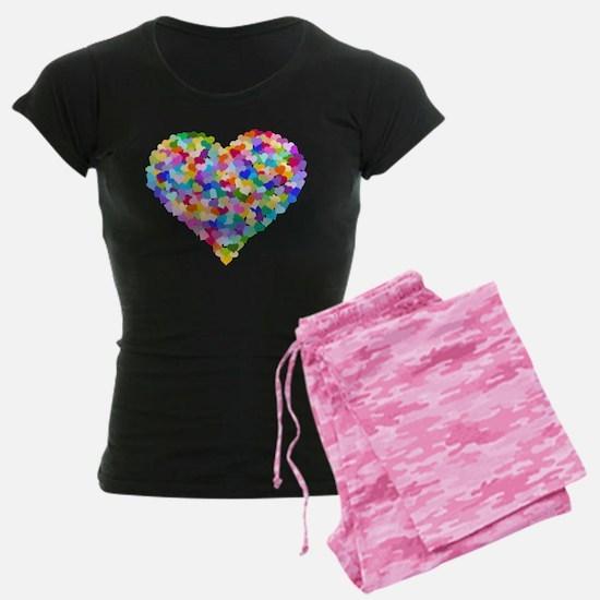 rainbow heart of hearts pajamas - Valentines Day Pajamas