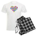 Rainbow Heart of Hearts Men's Light Pajamas