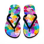 Rainbow Heart of Hearts Flip Flops