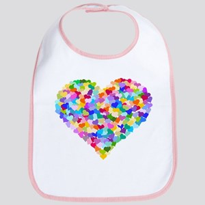Rainbow Heart of Hearts Bib