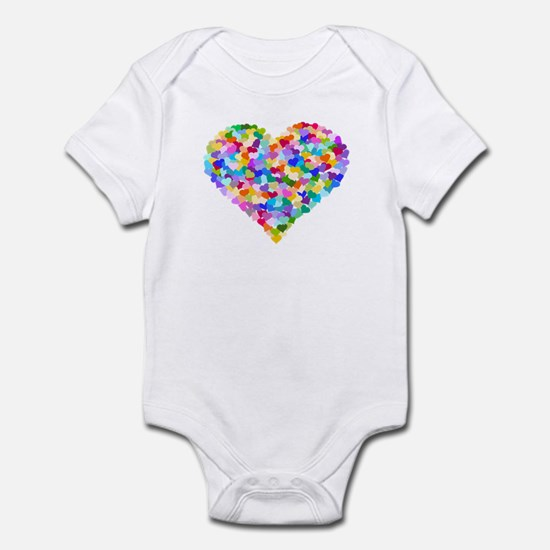 Rainbow Heart of Hearts Infant Bodysuit