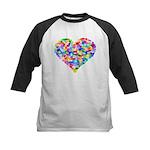 Rainbow Heart of Hearts Kids Baseball Jersey
