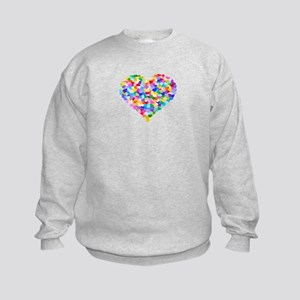 Rainbow Heart of Hearts Kids Sweatshirt