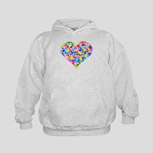 Rainbow Heart of Hearts Kids Hoodie
