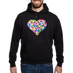 Rainbow Heart of Hearts Hoodie (dark)
