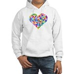 Rainbow Heart of Hearts Hooded Sweatshirt