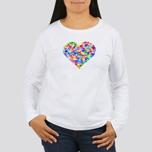 Rainbow Heart of Hearts Women's Long Sleeve T-Shir