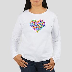95ba57b8f8c966 Rainbow Heart of Hearts Women s Long Sleeve T-Shir