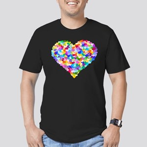 Rainbow Heart of Hearts Men's Fitted T-Shirt (dark